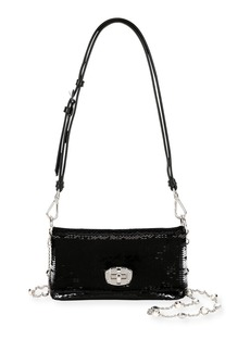 Miu Miu Paillettes Leather Small Crossbody Bag