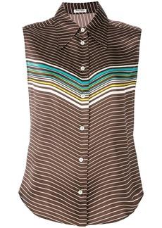 Miu Miu paneled-sleeved blouse