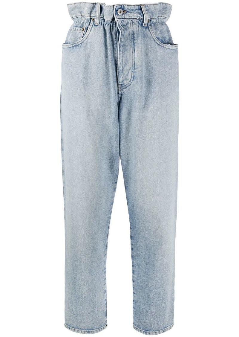 Miu Miu paperbag-waist straight-leg jeans