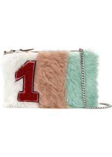 Miu Miu Pastel Shearling Patch clutch bag