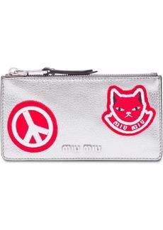 Miu Miu patch appliqué wallet
