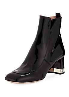 Miu Miu Patent Leather Block-Heel Ankle Boot