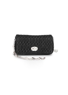 Miu Miu Pattina Leather Shoulder Bag