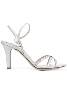 Miu Miu pearl embellished strappy sandals