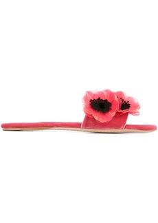 Miu Miu Peony embellished sandals