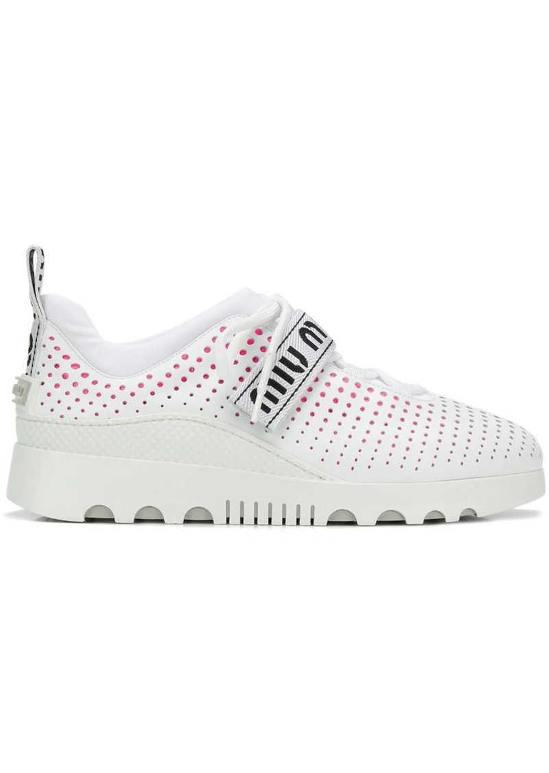 Miu Miu perforated sneakers