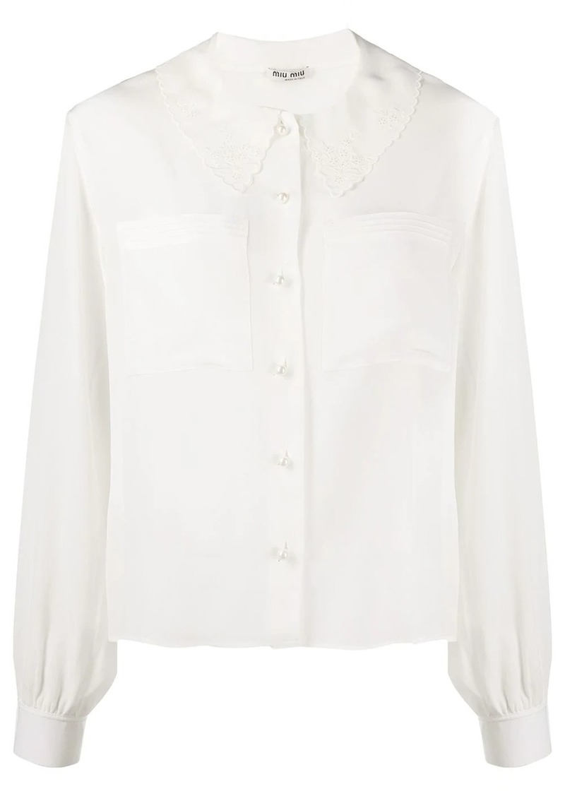 Miu Miu peter pan collar buttoned blouse