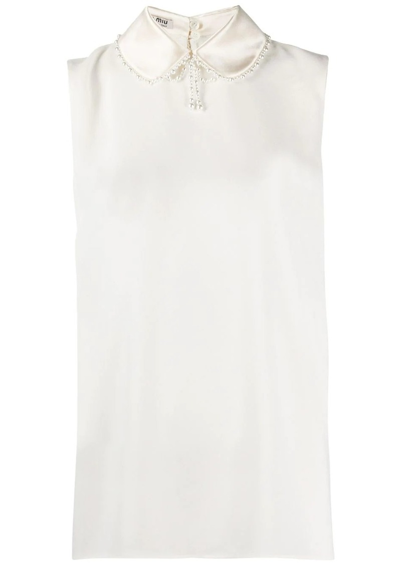 Miu Miu Peter Pan collar vest
