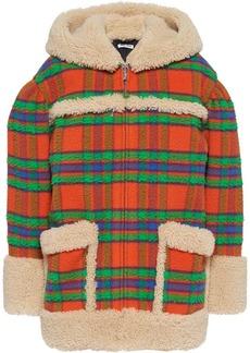 Miu Miu plaid Casentino shearling jacket