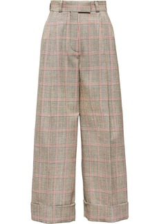 Miu Miu plaid cropped wide-leg trousers