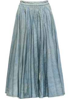 Miu Miu pleated denim skirt