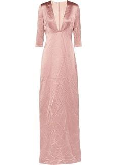 Miu Miu plunge-neck floor-length gown