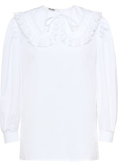 Miu Miu poplin and lace top