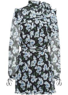 Miu Miu poppy-print silk-chiffon dress