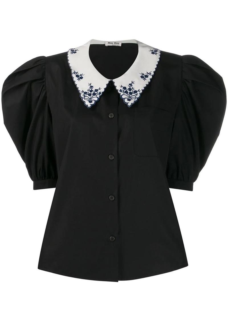Miu Miu power shoulder blouse
