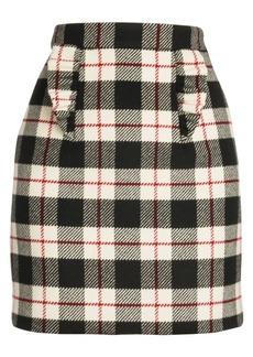 Miu Miu Prince of Wales Plaid Mini Skirt