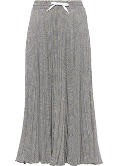 Miu Miu Prince of Wales pleated skirt