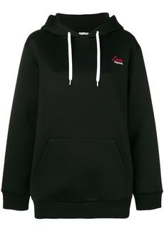 Miu Miu printed back hoodie