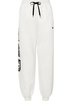 Miu Miu Printed Cotton-blend Track Pants