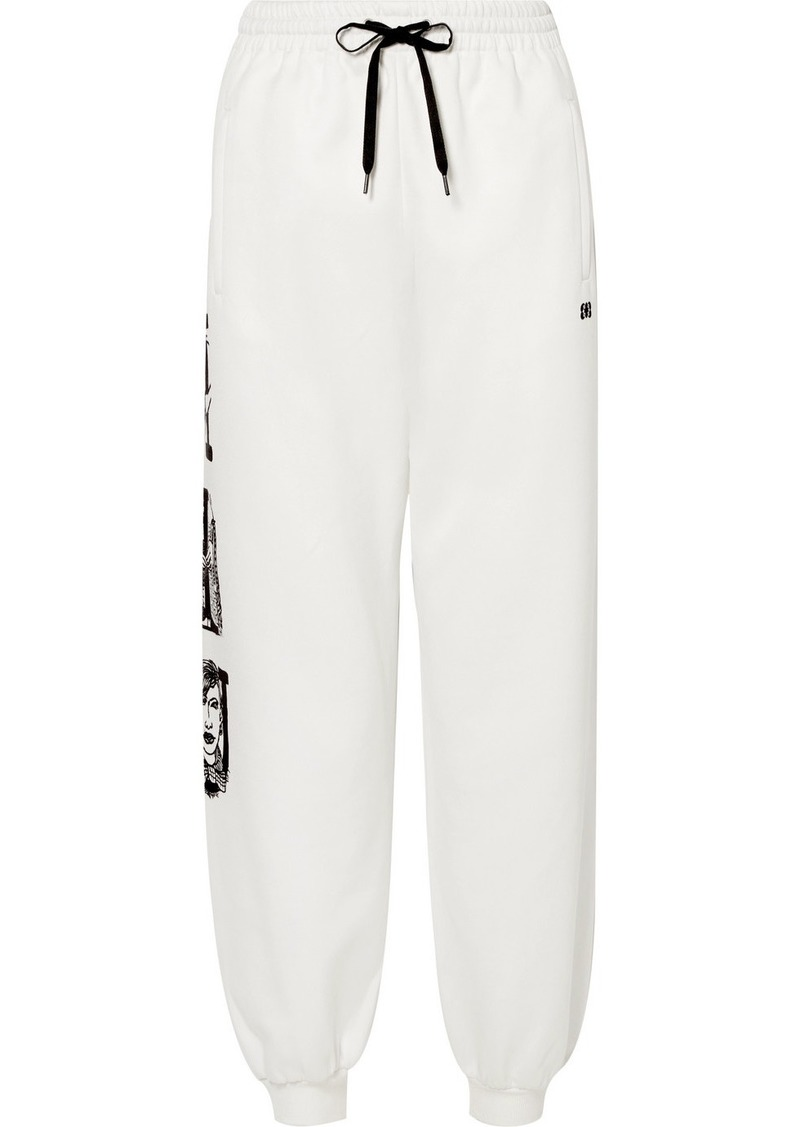 Miu Miu Printed Cotton-blend Track Pants