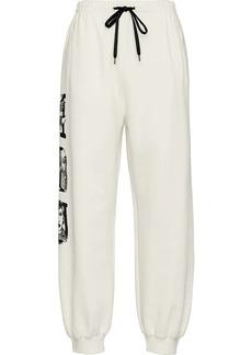 Miu Miu fleece effect track pants
