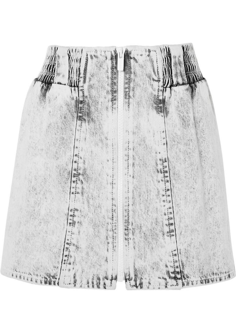 Miu Miu Printed Denim Mini Skirt