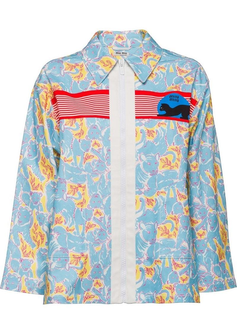 Miu Miu printed jacket