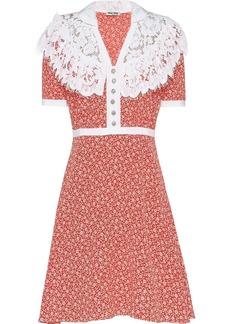 Miu Miu printed marocain dress
