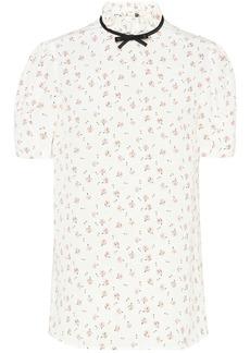 Miu Miu printed marocain top