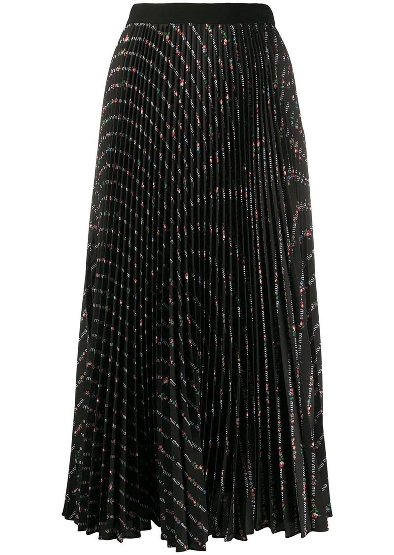 Miu Miu printed pleated skirt