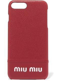 Miu Miu Printed textured-leather iPhone 8 Plus case