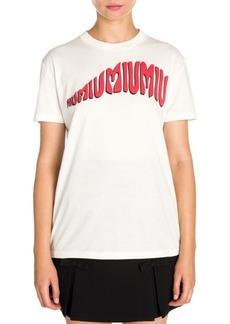 Miu Miu Psycadelic Print T-Shirt