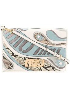 Miu Miu psychedelic logo shoulder bag