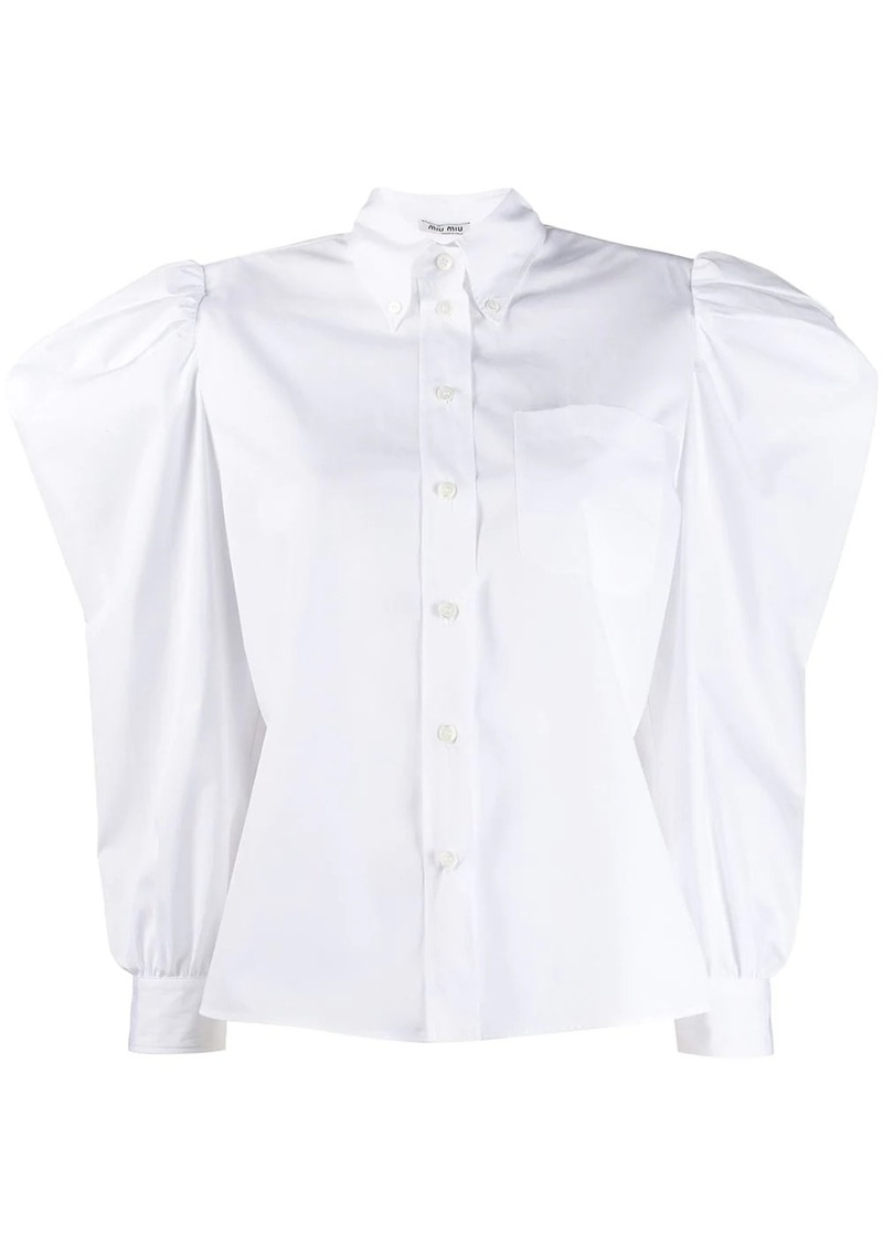 Miu Miu puff sleeve shirt