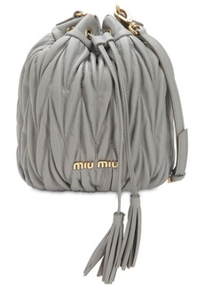 Miu Miu Quilted Leather Bucket Bag