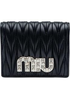 Miu Miu quilted logo bi-fold wallet