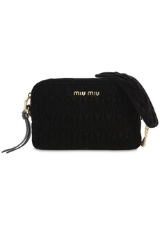 Miu Miu Quilted Velvet Shoulder Bag