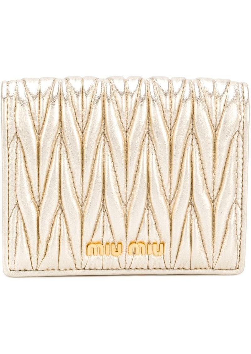 Miu Miu quilted compact wallet