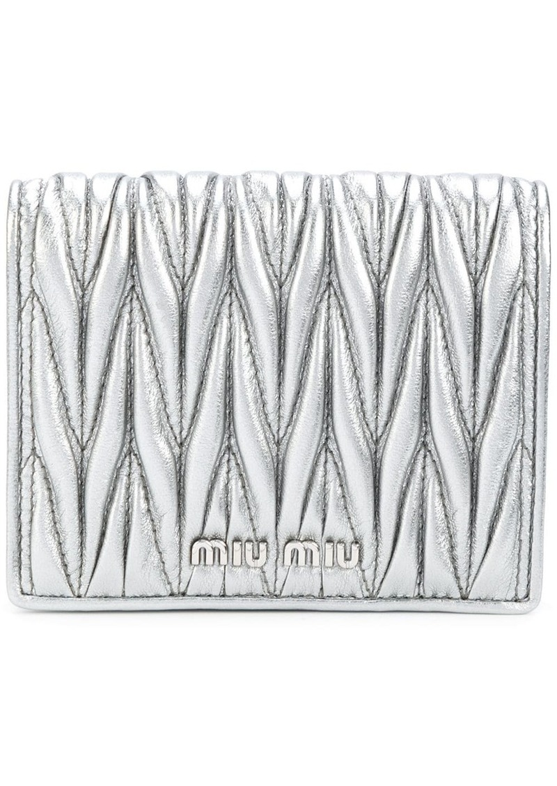 Miu Miu quilted wallet