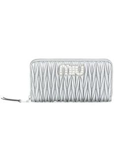 Miu Miu quilted zipped wallet