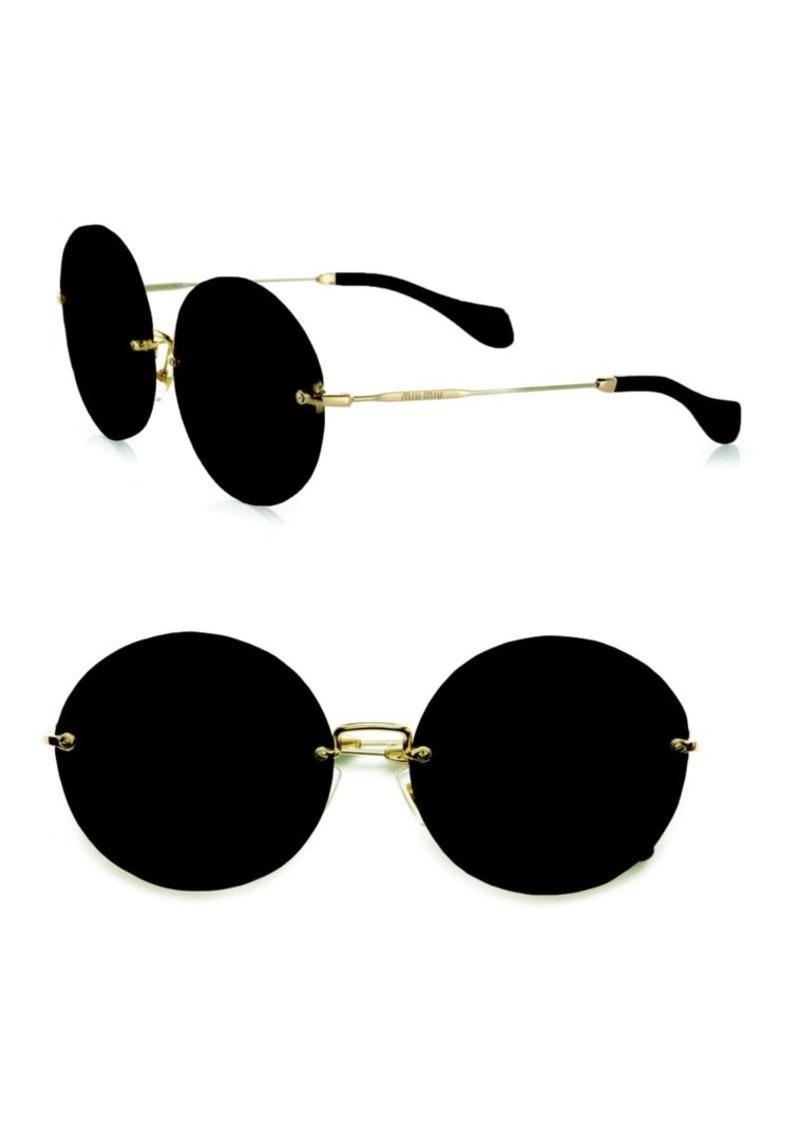 Miu Miu Retro Noir Round Acetate Sunglasses