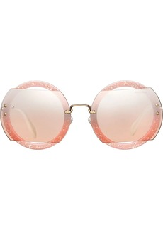 Miu Miu Reveal glitter sunglasses
