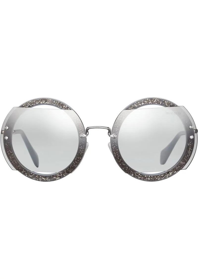 8d6b46dcb Miu Miu Reveal glitter sunglasses   Sunglasses