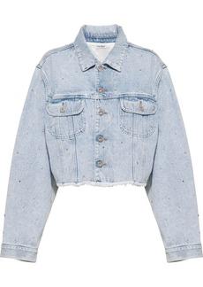 Miu Miu rhinestone-embellished denim jacket