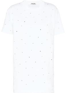Miu Miu rhinestone embellishments T-shirt
