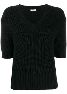 Miu Miu ribbed knit T-shirt