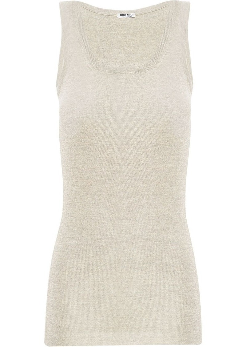 Miu Miu ribbed knit tank top
