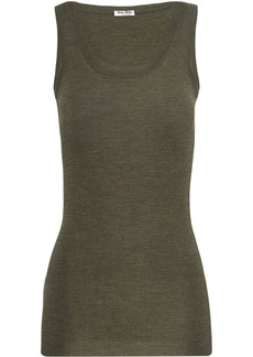 Miu Miu ribbed knit vest top