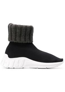 Miu Miu ribbed slip-on sneakers
