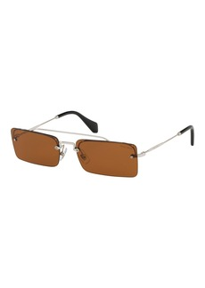 Miu Miu Rimless Rectangle Sunglasses